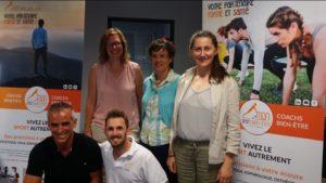 L'équipe de coachs Mon Sport Bien-être de Roanne lors de la première édition de la Journée du bien-être en entreprise, septembre 2018