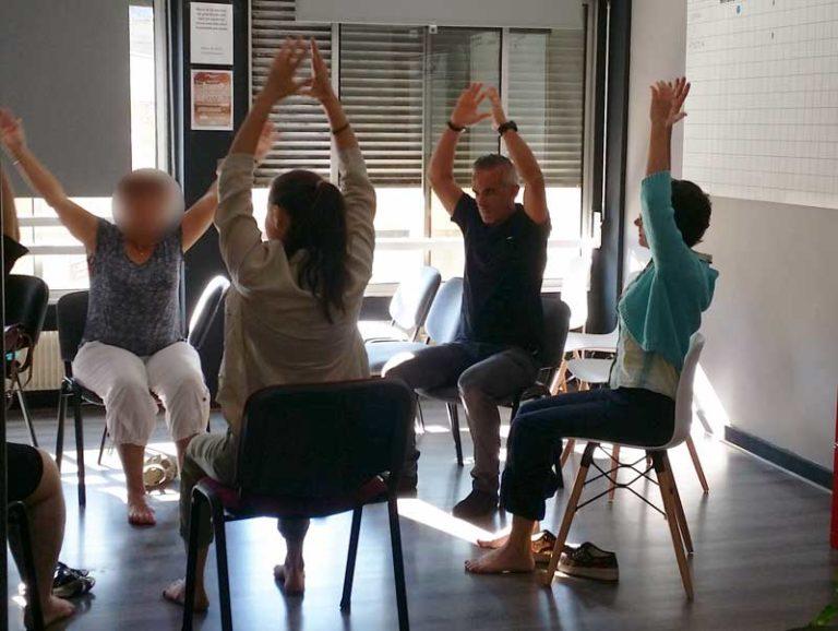 Pause Yoga Journée du bien-être en entreprise 2018